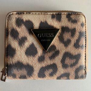 GUESS Cheetah print mini wallet